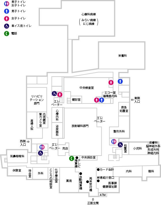 フロア図 1F