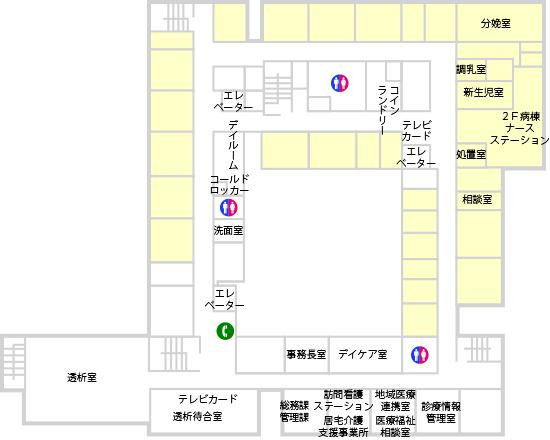 フロア図 2F