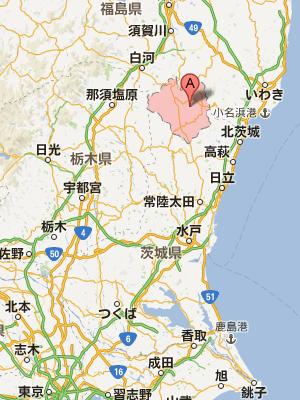 福島県東白川郡所在地地図
