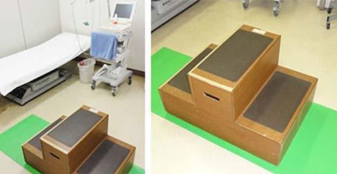 運動負荷心電図検査機器と2段階段